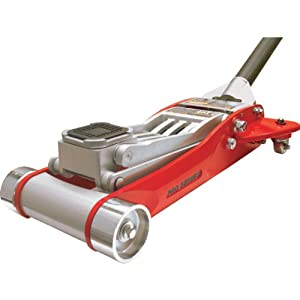 Torin Big Red Aluminum Racing Floor Jack: Double Piston Pump, 3 Ton Capacity