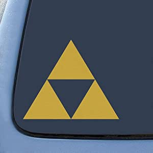 "Bargain Max Triforce Logo Sticker Decal Notebook Car Laptop 5.5"" (Gold)"