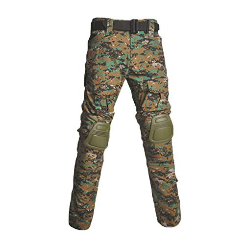 Military Ba Men's Regular Straight Stretch Twill Cargo Pant Military Tactical Pants Multi Pocket Lightweight Breathable Casual Cargo Pants for Men-Jungle Digita-US 28(30-31W tag - Pants Tiger Urban Bdu
