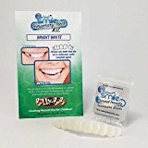 Instant Smile Teeth Top Veneer Replacement Tooth Kit - Porcelain White