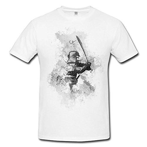 Samurai T-Shirt Herren, Men mit stylischen Motiv von Paul Sinus