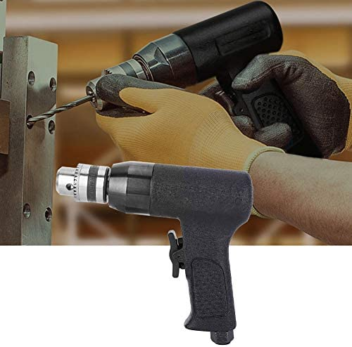 Heavy Duty Air Drill, High Accuracy CW/CCW Pneumatic Drill 1/4 inch Alloy Air Drilling Hand Tool with Connecting Tool