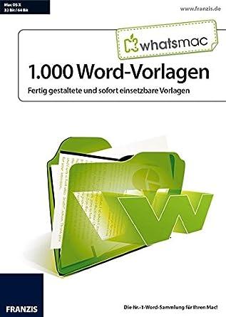 Whatsmac 1 000 Word Vorlagen Amazon De Software