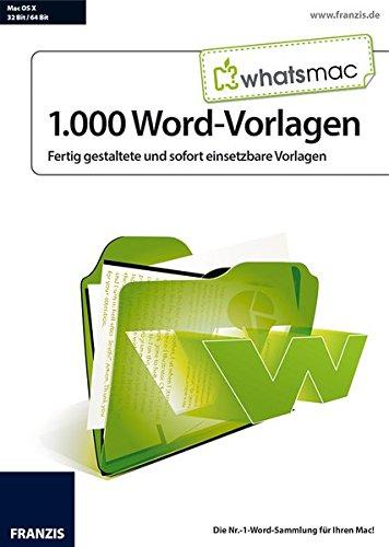 Whatsmac 1000 Word Vorlagen Amazonde Software