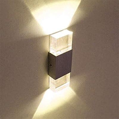 SISVIV Apliques de Pared 6W Lampara Pasillo, Escalera, Potente Luz, Blanco Cálido: Amazon.es: Iluminación