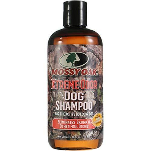 D2C Global Mossy Oak Xtreme Odor Dog Shampoo   Eliminates Skunk & Other Foul Odors   for The Active Outdoor Dog   16 Oz.