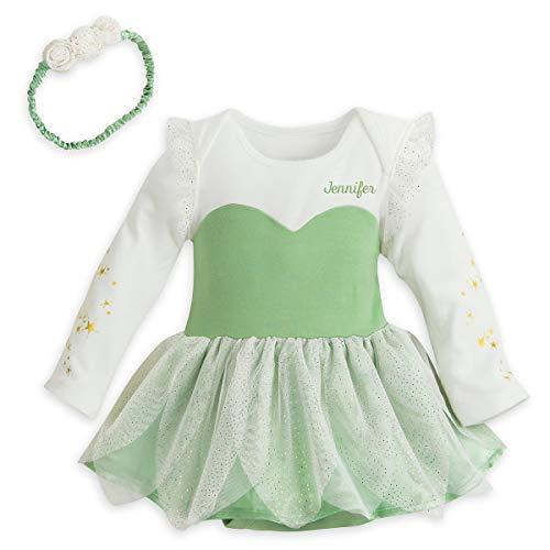 Disney Tinker Bell Green Tinkerbell Costume Bodysuit & Headband for Baby (Size: 0-3 Months)