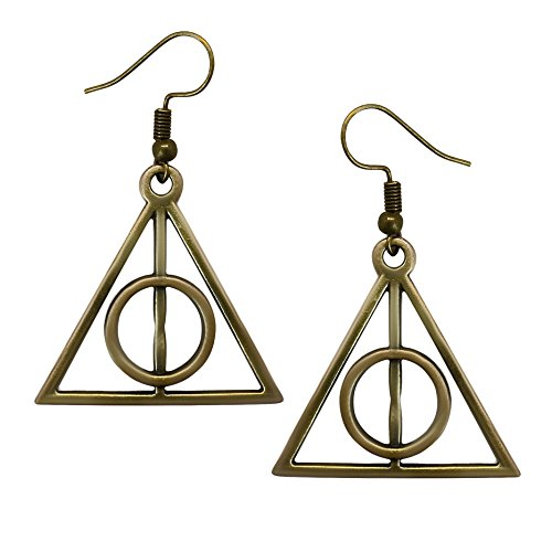 (Adeley Womens Harry Potter Deathly Hallows Inspired Brass Charm Dangle)