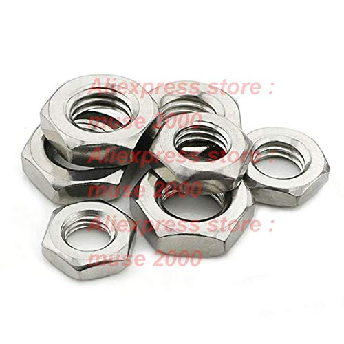Nuts Thin nut 304 Stainless Steel DIN439 M4 M5 M6 M8 M10 M12 Metric Thin nut Screw Bolt Fastener - (Color: M12)