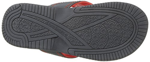 New Balance Unisex-Kids Mojo Thong Flip-Flop, Grey/Orange, P13 M US Little Kid by New Balance (Image #3)