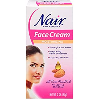 Nair Hair Remover Moisturizing Face Cream, with Sweet Almond Oil, 2OZ