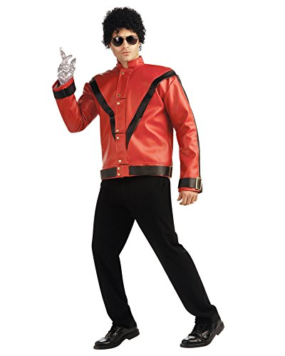 Mens Michael Jackson Costume Red 80s Thriller Video Jacket King of Pop Costume Sizes: (90s Couples Costumes Ideas)