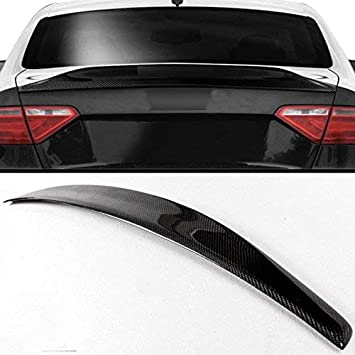Carbon Fiber Trunk Spoiler Lip For 2008-2016 Audi A5 Coupe 2dr Type A