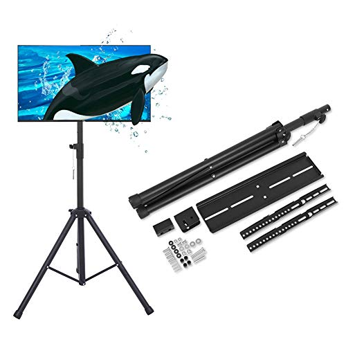 """AYNEFY TV Flood Stand, 26"""" to 50"""" Black Tripod TV Display Portable Floor Stand Height Adjustable Mount for LED LCD Flat Panel Screen from AYNEFY"""