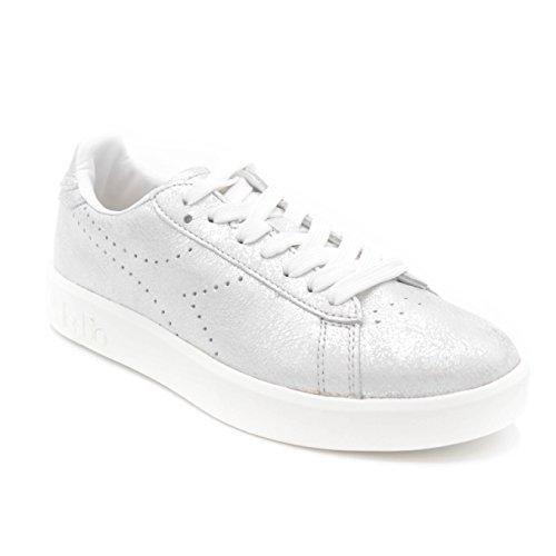 Diadora Heritage Donna Sneakers 90001 Argento In Pelle 11qUrwF