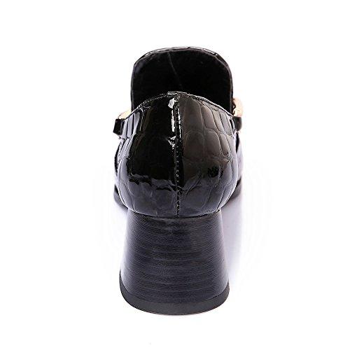 con Nine mujer negro cuña Shoes Sandalias SevenCourt qRvFB