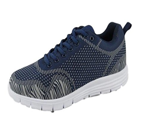 Navy Denim Gym Mens Casual Edge Airtech Up Sports Fitness 7 Trainers Style Lightweight Shoe Ultra 12 Size Lace vTfWPRq