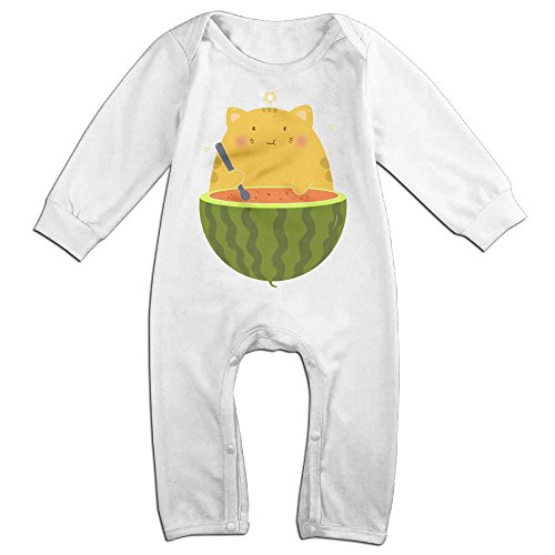 Baby Sour Patch Kid Costume (Baby Infant Romper Watermelon Long Sleeve Jumpsuit Costume White 24 Months)
