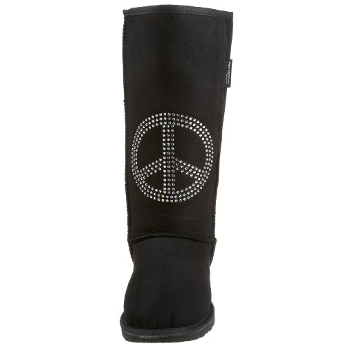 Koolaburra Unisex Flash Peace Firm Pelle Di Montone Nero