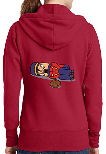 Womens Nut Cracker Full Zip Hoodie, Red, 3X