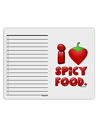 TooLoud I Heart Spicy Food To Do Shopping List Dry Erase Board