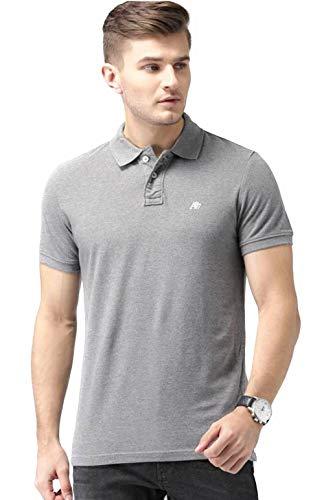 Aeropostale Men's Solid Uniform Logo Rugby Polo Shirt (X-Large, Heather Grey 053)