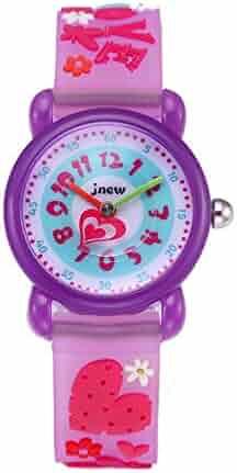 CdyBox Silicone Watch 3D Cartoon Design Children Girls Kids Digital Sport Watches Dial Colorful Watchband (Purple)