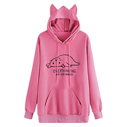 Blouses for Womens,DaySeventh Women Long Sleeve Print Casual Hooded Sweatshirt Pullover Top Blouse