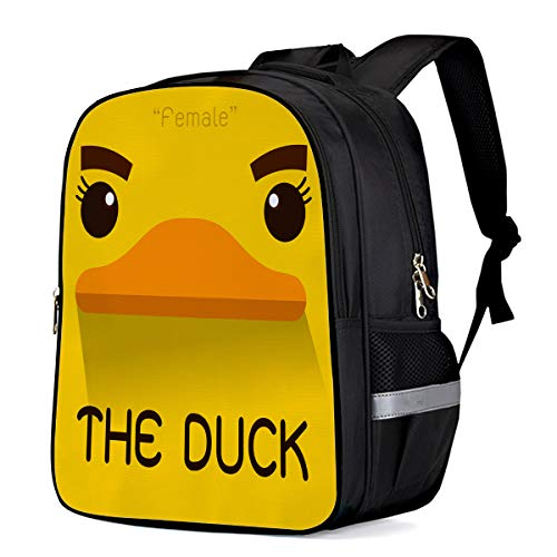 Unisex Durable School Backpack- The Duck Logo Design Template, Lightweight Oxford Fabric School Bags with Reflective Strip Daypack Laptop Bags