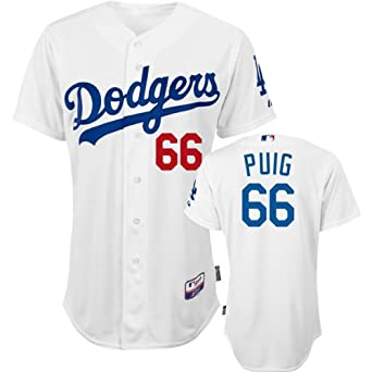 new product b3ef8 43139 Amazon.com: Los Angeles Dodgers Authentic Yasiel Puig Home ...