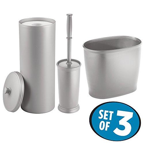 mDesign Toilet Holder Wastebasket Bathroom