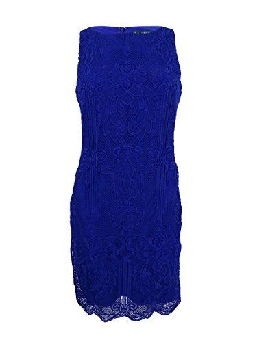 Lauren by Ralph Lauren Women's Lace Sleeveless Sheath Dress (4, Cannes Blue)