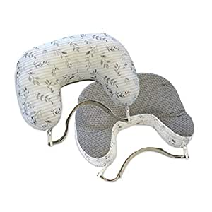 Boppy Best Latch Breastfeeding Pillow, Gray Penny Dot