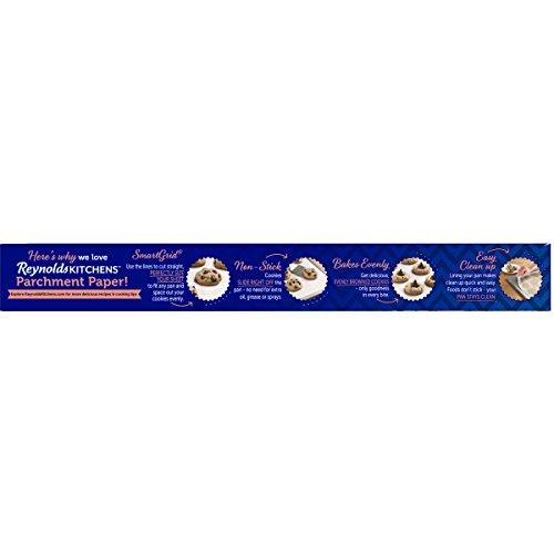 Amazon.com: Reynolds Kitchens Parchment Paper (Smart Grid, Non Stick, 45  Square Foot Roll): Prime Pantry