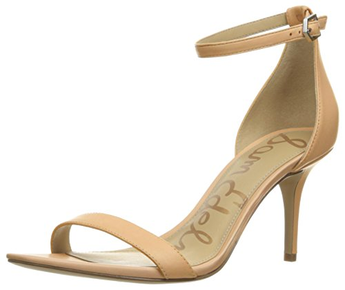 Sam Edelman Women's Patti Dress Sandal, Classic Nude Leather, 6 Wide US
