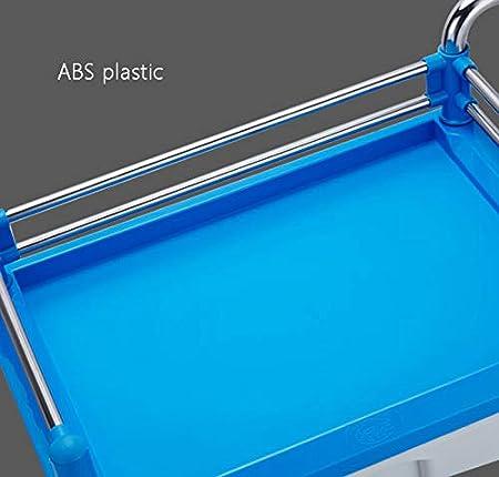 Carrelli Per Strumenti Medici con Cassetto Singolo Carico 90 kg Colore : Gray Acciaio Inossidabile 2 Strati Attrezzi Salone di Bellezza ABS Chirurgico 55 /× 37 /× 88 Cm