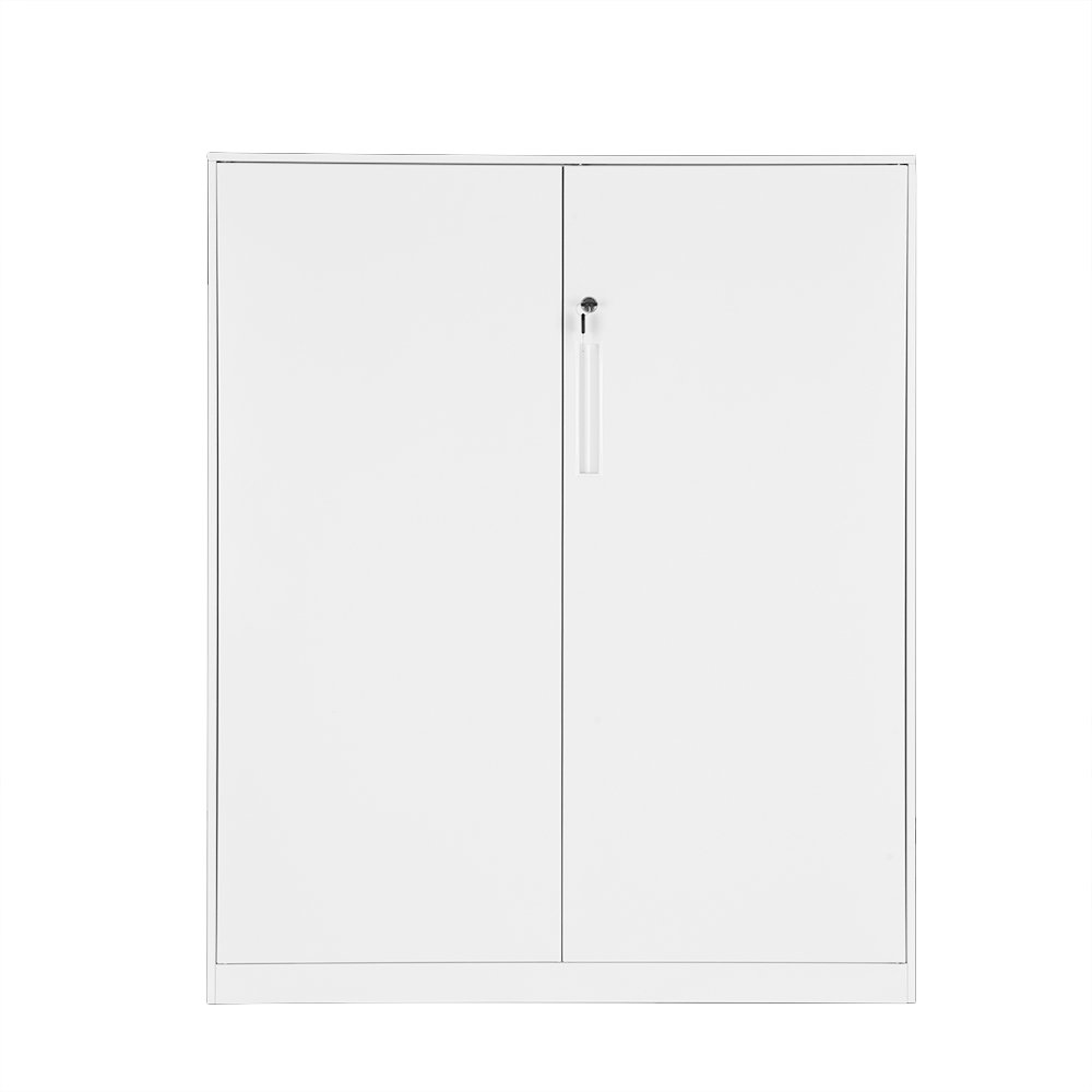 Britoniture Office Cupboard 2 Doors Metal Lockable Storage File Cabinet 109cm BOCHEN