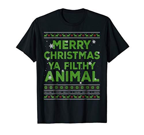 Filthy Animal Ya Merry Christmas Ugly Sweater T-Shirt