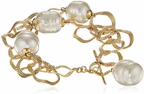 Majorica Artisan Women's 14mm White Baroque Pearls, One Size
