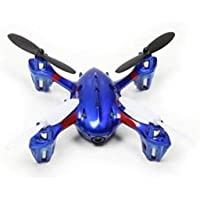 5-Channel 2.4GHz Remote Control Quadcopter Flying Blue Drone with LED Lights