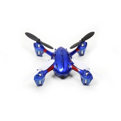 5-Channel 2.4GHz Remote Control Quadcopter Flying Blue Drone with LED Lights - Social Media Sites Costumes