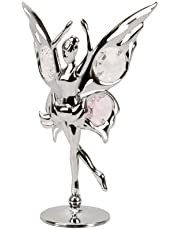 Crystocraft Keepsake Gift Ornament - Butterfly Fairy Dancing with Swarvoski Crystal Elements by CRYSTOCRAFT