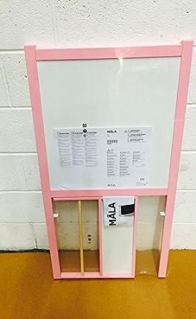 Ikea Pink Childrens Blackboard Whiteboard Two Sided Easel Paper Roll