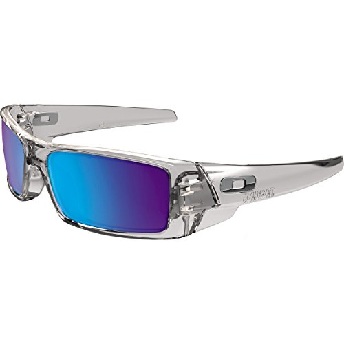 Oakley Men's Gascan Rectangular Sunglasses Polished Clear...