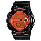 Casio GD100HC-1 Mens G-Shock Super LED XL Black and Orange Multi-Function Digital Watch