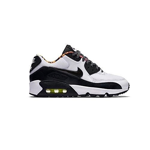 Nike Air Max 90 Bambini Della Maglia (gs), Wlf Gry / Ttl Crmsn-dk Prpl Dst Grigio Scuro / Nero-grigio Neutro-bianco