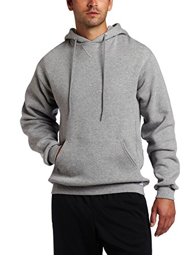 Russell Athletic Men's Dri Power Hooded Pullover Sweatshirt, Oxford, Small, grey