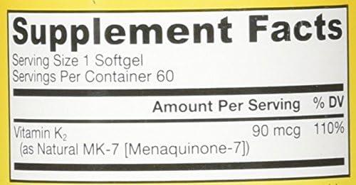 Amazon.com: Jarrow Formulas Vitamin K-2 as MK-7 - 90 mcg 60 ...