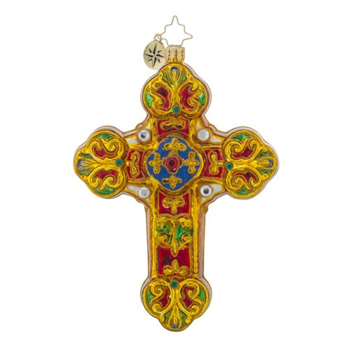 Christopher Radko Baroque Blessings Cross Christmas Ornament