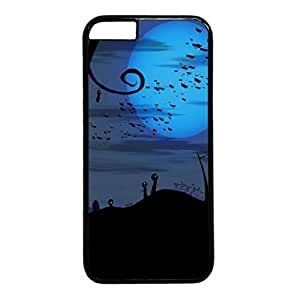 Bats over Cemetery Halloween Protective Durable Hard Plastic Back Fits Cover Case for iphone 6 Plus 5.5-1122012
